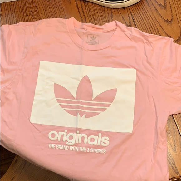 51e8506a37e adidas Tops | Light Pink Tee Shirt | Poshmark